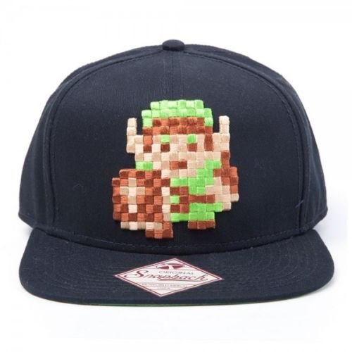 Link 8bit Zelda Baseball Cap kompatibel mit Nintendo Mütze Schirmmütze Flat Bill Snapback Kappe