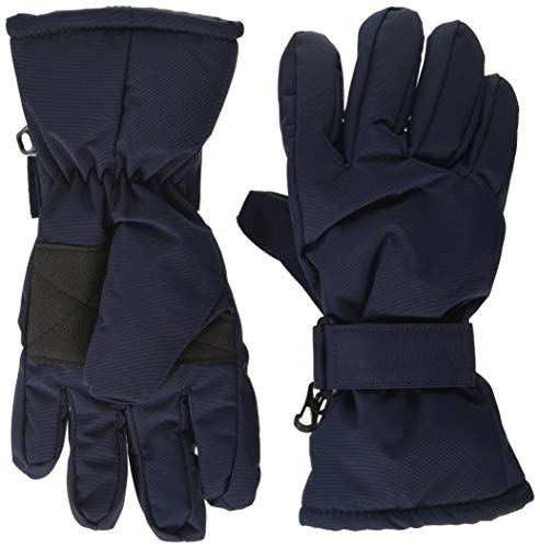 MINYMO Unisex-Child Tussor solid Glove Liners, Navy, 8