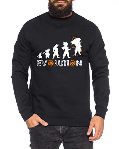 Tee Kiki Evolution Sweat-Shirt pour Homme Goku Dragon Master Son Ball Vegeta Turtle Roshi DB, Farbe2:Noir, Größe2:Large