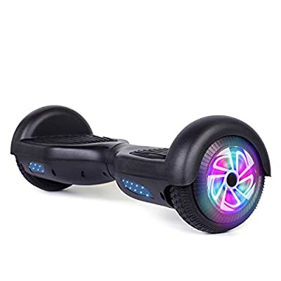 "TST 6.5"" Self-Balancing Electric Scooters, 2 Wheels Self Balancing Hoverboard, with Bluetooth, LED Light Hoverboard for Kids and Adults"