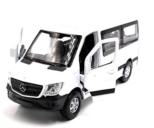Onwomania Sprinter Fenster Weiss Modellauto mit Wunschkennzeichen Auto Maßstab 1:34 (lizensiert)