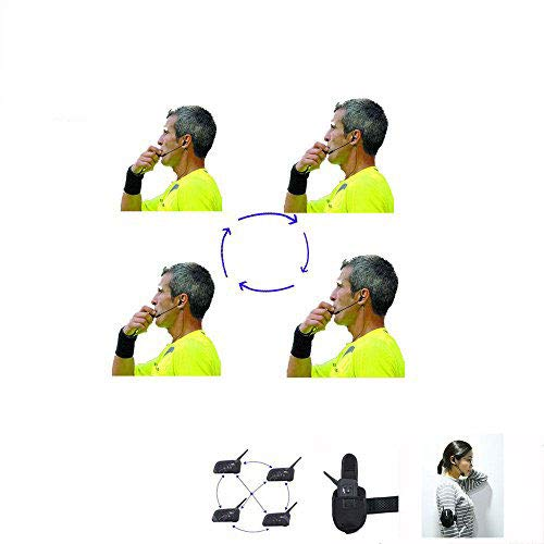 Referee Headset 4 RefereesTalk Same time Football Headsets Wireless Soccer Headsets Football Referee Communication System (4 Referees)