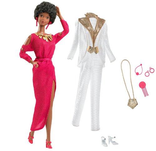 Barbie R4468 - Muñeca Afro de coleccionista con Vestido Vintage años 80