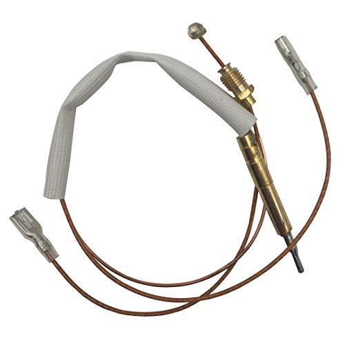 Meter Star Heizpilz Gas Thermoelement Draht Hilft 350mm (Ende Muttern für Gas Ventil 8mm, Zwei flach quadratisch Terminals Breite 4,8mm für Kipp Schalter)