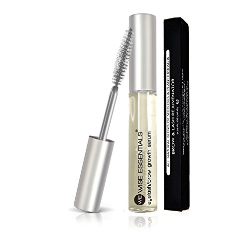 Eyelash Growth Serum 100% Natural For Longer, Lush, Healthier EyeLashes & Brows - Enchance and Rejuvenate Your Lashes - Wise Essentials