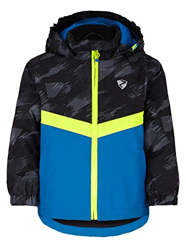 Ziener Jungen AMAI Baby-Kinder Skijacke/Winterjacke | Wasserdicht, Winddicht, Warm, Alpine Wool, Persian Blue, 86