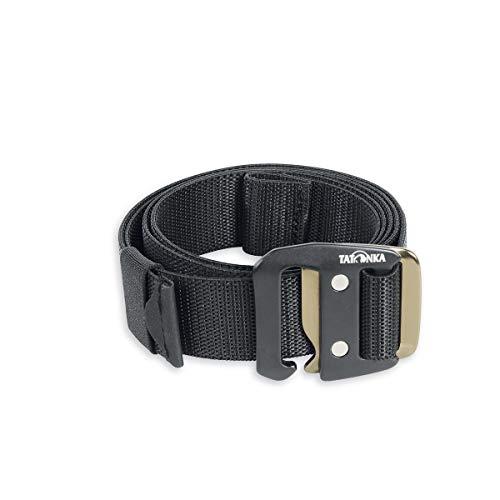 Tatonka Unisex– Erwachsene Stretchbelt 38mm Gürtel, Black, 125 x 3,8 cm