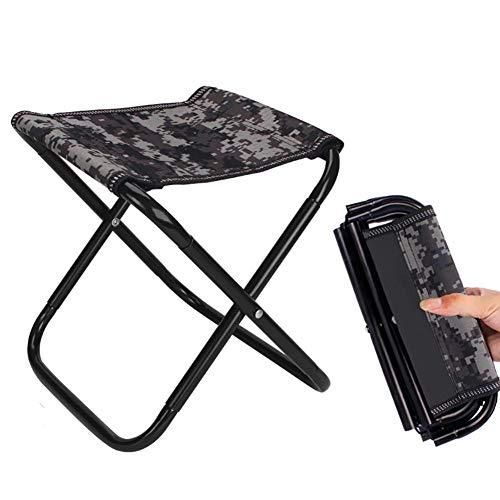 YLCJ Liegestuhl Garten Kettler, Tragbarer Outdoor-Stuhl Camping Picknick Angeln Wandern Strand Klappstuhltravel Ultraleichter Klappstuhl Superhard High Load Outdoor Camping Stuhl-Tarnung 1