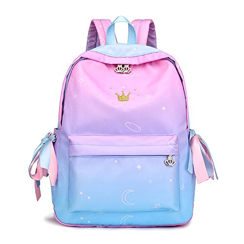 HBRE Travel Laptop Backpack,Contrast Yellow Crown Backpack,Anti Theft Water Resistant School Rucksack Gifts,For School Or Travel, Ideal Travel Day Shoulder Pack