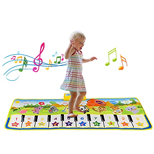 Toys for 1-6 Year Old Boys Girls, Piano Music Dance Mat for Toddlers Infant...