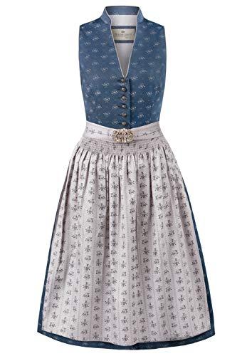 Stockerpoint Damen Dirndl Amalie2 Kleid für besondere Anlässe, dunkelblau-grau, 38
