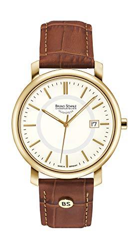 Bruno Söhnle Herren Analog Quarz Uhr mit Leder Armband 17-33142-241