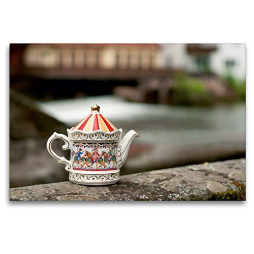Premium Textil-Leinwand 120 x 80 cm Quer-Format Teekanne von Sadler, Leinwanddruck von silvimania