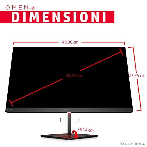 HP OMEN X 25f Monitor Gaming TN, Schermo 25