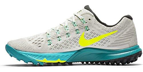Nike Damen Air Zoom Terra Kiger 3 Laufschuhe, Mehrfarbig (Light Bone Weiß/Türkis/Schwarz/Volt gelb), 42 EU