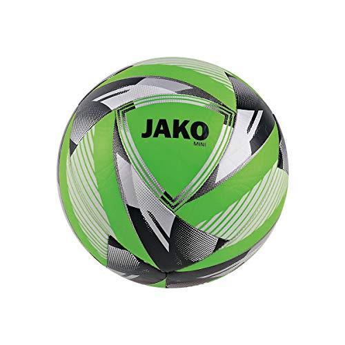 JAKO Fußbälle Miniball Neon, neongrün/silber, 1, 2384