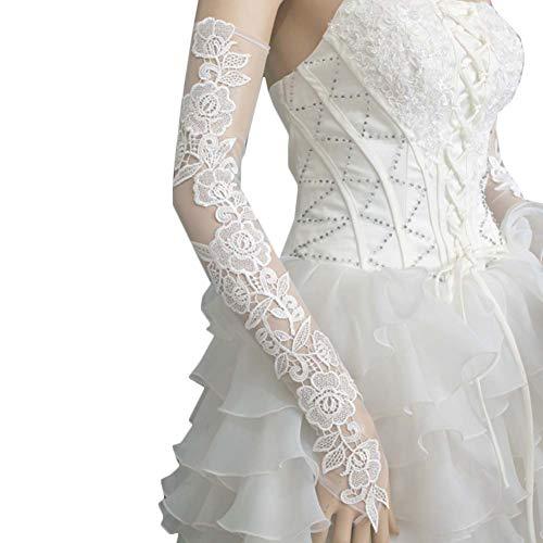 Gants de mariée mariage robe de soirée dentelle longs gants A11
