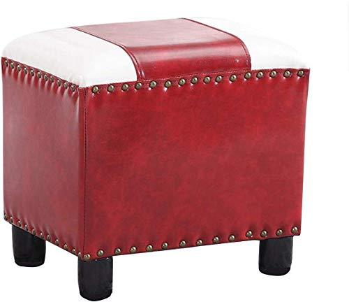 QTQZDD rond groot kussen bank lederen kubus kruk/zitzak Bubble Soft Edge stoel zitzak Max 150 kg, 40x; 32x; 40 cm 3 3