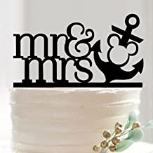 Bakell Mr and Mrs Nautical and Anchor Wedding Cake Topper from