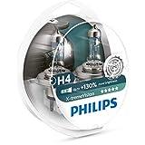 Philips X-treme Vision +130% Headlight Bulbs ヨーロッパ製 (H4 60/55W) (ペア)