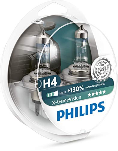 Philips 12342XV+S2 H4 X-Treme Vision +130%, Headlight Car Bulbs, Twin-Pack, White large image