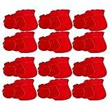 TOPBATHY 30 bolsas de joyería de franela con diseño de calabaza, con cordón para guardar anillo, caramelos, bolsas de regalo (rojo, estilo fino, tres tamaños)