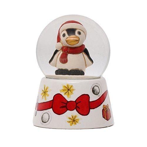 THUN Boule De Neige Pinguino Animali, Ceramica, Variopinto