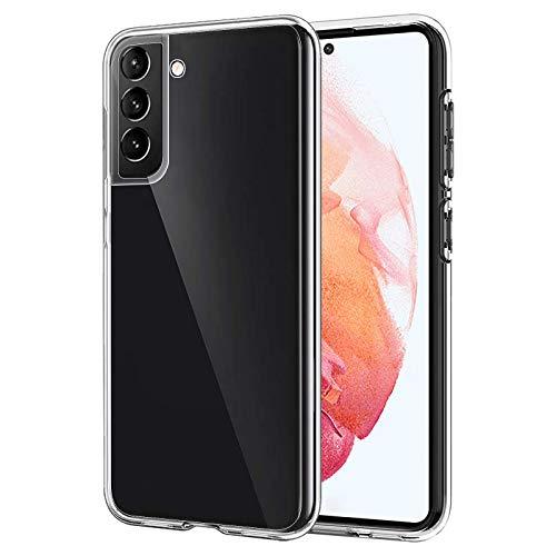 ANEWSIR Cover Compatibile con Samsung Galaxy S21 Cover Slim Case Custodia Impugnatura Comoda, Case in Morbido Silicone di Gel AntiGraffio in TPU Ultra - Trasparente