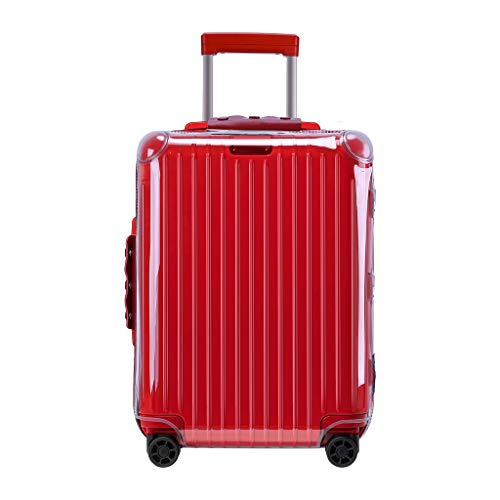 """RainVillage Luggage Covers Luggage Protector Clear PVC Suitcase Protective Case with Zipper Closure for Rimowa Essential Cabin S (83252,20"""")"""