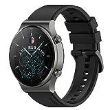 Disscool Cinturino in silicone per Huawei Watch GT 2 Pro Smart Watch,High Qualtiy Cinturino di ricambio e Senza metallo, colore: Nero