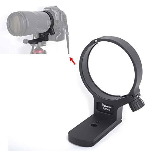 iShoot Lens Tripod Mount Ring for Tamron 100-400mm f/4.5-6.3 Di VC USD (A035), CNC Machined Lens Collar Support Bracket Holder, Bottom is ARCA-Swiss Fit Quick Release Plate for Tripod Ball Head