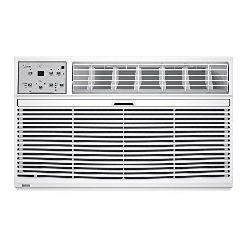 Midea MAT08R1ZWT Air Conditioner 3-in-1 Cooling and 3 Fan Speeds,Sleep Mode, LCD Remote Control, Through The Wall AC, 115V, 8000 BTU, White