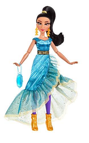 Disney Prinzessin Style Serie, Jasmin Modepuppe, modernes Abendkleid, Ohrringe, Handtasche und Schuhe, Spielzeug für Mädchen ab 6 Jahren