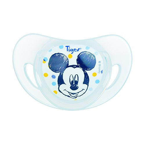 Tigex Set de 2 Sucettes Physiologiques Silicone Mickey 18+ Mois