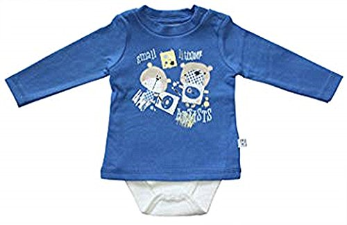 BLUE SEVEN Baby Jungen Body-Shirt Langarm ITS PLAYTIME 481002 in blau (OCEAN 62)