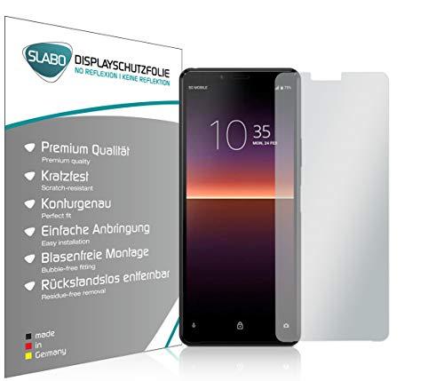 Slabo 4 x Bildschirmschutzfolie für Sony Xperia 10 II Bildschirmfolie Schutzfolie Folie Zubehör No Reflexion MATT