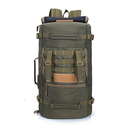 50L 大容量 3WAY 選べる8色 迷彩 多ポケット 防水耐震 海外旅行 長期旅行 登山に最適 多機能 アルパインパック ミリタリー リュックサック アウトドア バックパック 大型旅行バッグ (アーミーグリーン)