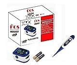 House Of Sensation Swadesi Finger Tip Pulse Oximeter, Multipurpose Digital Monitoring Pulse Meter Rate & SpO2 with OLED Digital Display