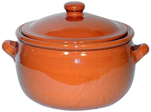 Amazing Cookware - Pentola in Terracotta Naturale, capienza 1,5 l