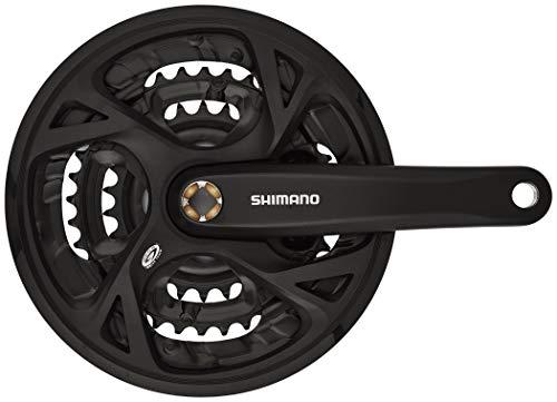 SHIMANO Unisex– Erwachsene FC-M371 Kurbelgarnitur, schwarz, Länge 175 mm
