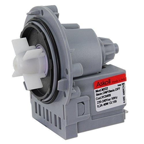 SPARES2GO scarico dell'unità pompa per Samsung Lavatrice (M332, 40w)