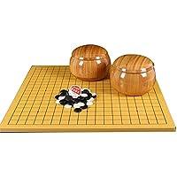 チェスセット、チェスセット囲碁ゲーム、Weiqi教育ゲーム竹チェス盤刺激想像力初心者のための親子関係を強化(レジャーパズルファミリーエンターテインメント)