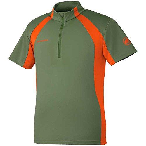 (マムート)MAMMUT メンズ シャツ Performance Dry Zip T-Shirts Men 1041-10040 4992 seaweed-dark orange L