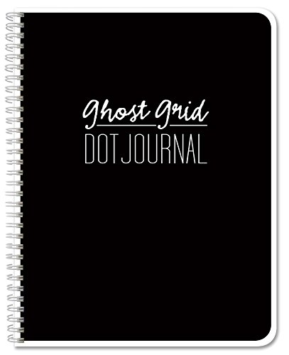"BookFactory Ghost Grid Dot Journal/Bullet Notebook - 120 Pages 5.5"" x 8.5"" Wire-O (JOU-120-HLCW-A(DotJournalPF))"