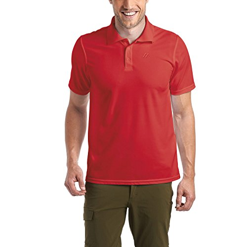 maier sports Polo para Hombre Ulrich de 100% PES en 9tamaños y Muchos Colores, función Polo/Polo/Función Camiseta, de Secado rápido y fácil, Primavera/Verano, Hombre, Color Salsa, tamaño 7XL