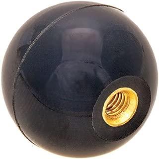 DimcoGray Black Phenolic Fluted Torque Knob Brass Insert 2-3//8 Diameter x 1-5//16 Height x 1-1//4 Hub Dia x 5//8 Hub Length 3//8-16 Thread x 1//2 Depth