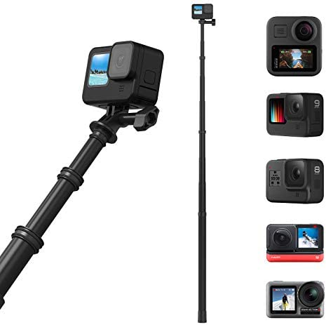 TELESIN 118 3 Meters Ultra Long Selfie Stick for GoPro Max Hero 9 8 7 6 5 4 3 Insta 360 One product image