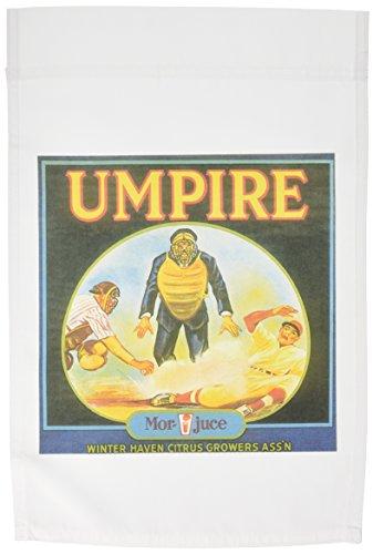 3dRose FL_153841_1 Vintage Baseball Umpire Food Ad Garten Flagge, 30,5 x 45,7 cm