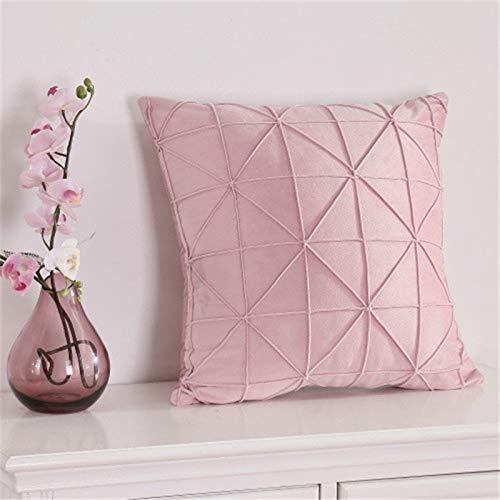 kangshishangmaoyouxian Dekorative Kissen Solid Square Kissen Throw Pillow Charakter rosa holländischen Samt Home Decor für Sofa Auto Schlafzimmer mit Kissen Kern Zweiteilige Set-45x45cm