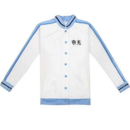 Poetic Walk Kuroko No Basket Cosplay Akashi Seijuro School Jersey Jacket (X-Large, White)
